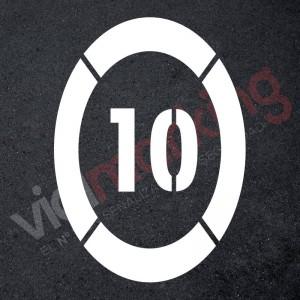 Plantilla pintar óvalo señal límite de velocidad 110x145 cm-110x145 cm-5-Polipropileno