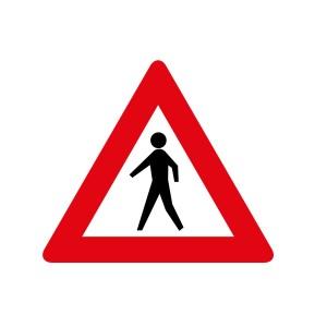 Vinilo señalización adhesivo señal tráfico Peligro Peatones