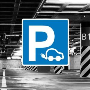 Señal de circulación S17 Reserva Parking coches eléctricos