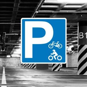 Señal de aparcamiento motocicletas y bicicletas