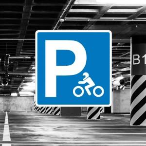 Señal de aparcamiento de motocicletas