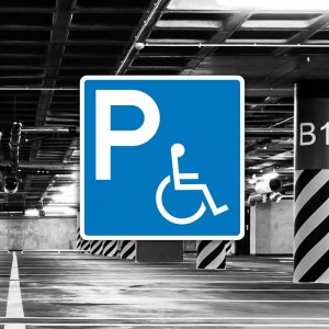 Señal de aparcamiento para personas con discapacidad