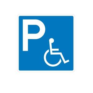 Vinilo señalización adhesivo señal Parking Minusválidos / Discapacitados