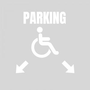 Plantilla pintar reserva parking discapacitados / minusválidos