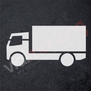 Plantilla pintar camión