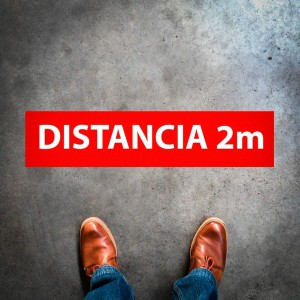"""Plantilla pintar señal """"distancia 2m"""""""