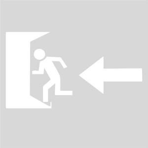 Plantilla pintar señal salida de emergencia parking