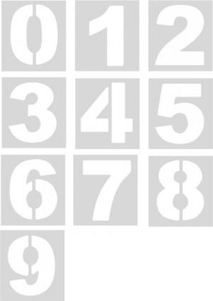 Plantillas números (unidad)