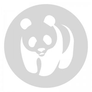Plantilla pintar señal oso panda camino escolar  Ø 80