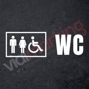 Plantilla pintar señalética aseo/wc accesible hombres/mujeres
