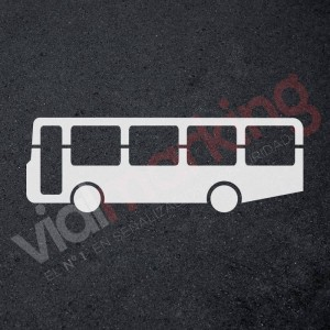 Plantilla para pintar signo autobus