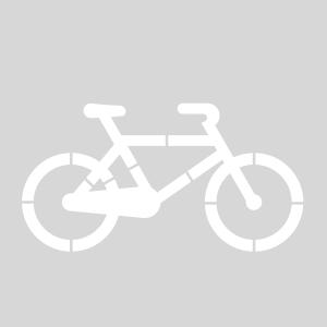 Plantilla bicicleta grande carril bici