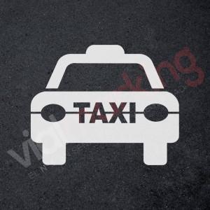 Plantilla para pintar símbolo TAXI (frontal)