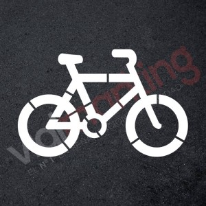 Plantilla pintar bicicleta carril bici