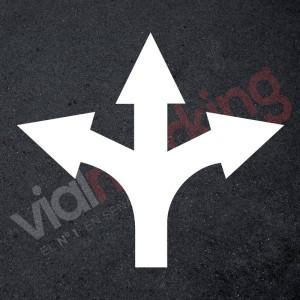 Plantilla rotulación parking flecha cruce 3 direcciones