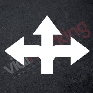 Plantilla pintar flecha giro obligatorio izquierda o derecha
