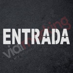 Plantilla pintar señal ENTRADA parking  reutilizable