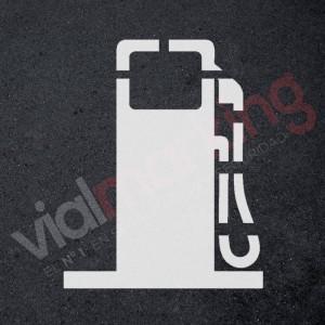 Plantilla para pintar gasolinera