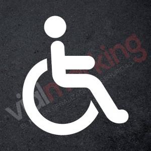Plantilla señalética silla ruedas