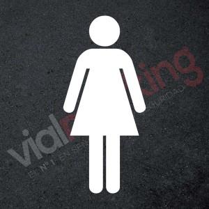 Plantilla para pintar reserva parking seguro para mujeres