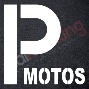 Plantilla pintar señal P parking motos