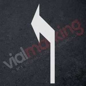 Plantilla flecha normativa direccional izquierda