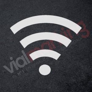 Plantilla para pintar señal wifi punto acceso internet