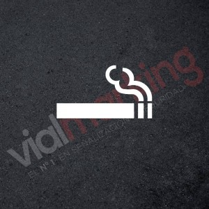 Plantilla pintar señal fumadores-cigarro