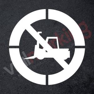 Plantilla pintar señal prohibido paso de carretillas XXL