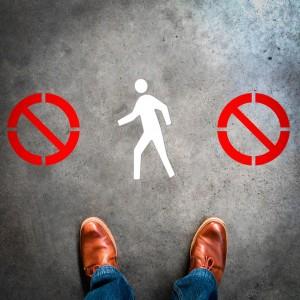 Plantilla pintar señal prohibido el paso (Default)