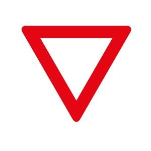 Vinilo señal tráfico ceda el paso