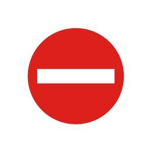 Vinilo señalización adhesivo señal tráfico R101 Entrada prohibida