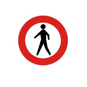 Vinilo señalización adhesivo señal tráfico R116 Entrada Prohibida Peatones