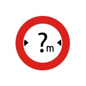 Vinilo señalización adhesivo señal tráfico Limitación de Anchura