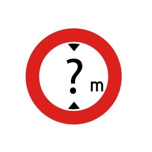 Vinilo señalización adhesivo señal tráfico Limitación de Altura