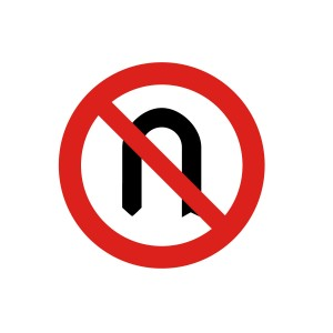 Señal de circulación R304 Media Vuelta Prohibida