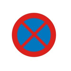 Vinilo señalización adhesivo señal tráfico Parada o Estacionamiento prohibido