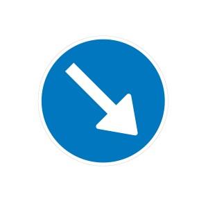 Vinilo Señal de circulación R401a Sentido Obligatorio