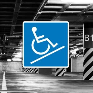 Cartel Señal de rampa accesible discapacitados