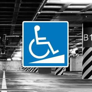 Cartel Señal de rampa accesible minusvalidos