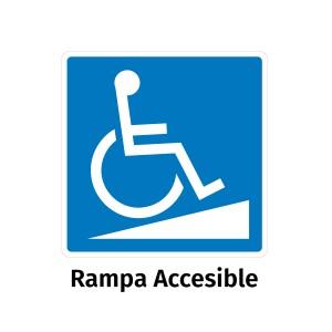 Vinilo señalización adhesivo señal rampa silla ruedas