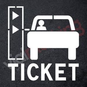 Plantilla pintar señal recoja su ticket parking