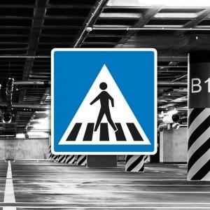 Señal de circulación S13 Situación de un paso de peatones