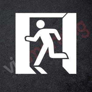 Plantilla pintar señal salida de emergencia