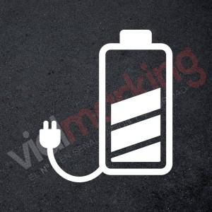 Punto de carga batería plantilla señalización