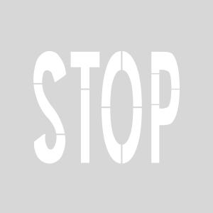 Plantilla pintar señal STOP normativa vía