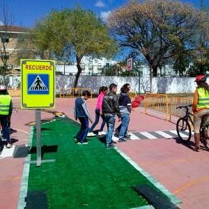 Isleta tráfico enrollable para Circuitos Educación Vial