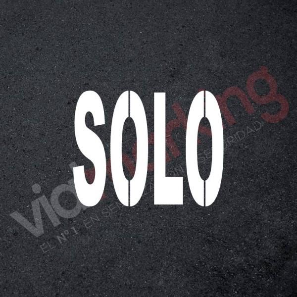Plantilla pintar señal SOLO XL