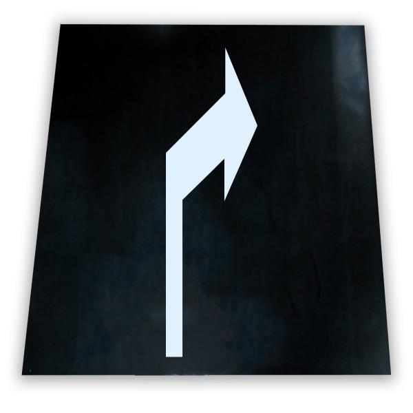 Alfombra marca vial con flecha direccional derecha