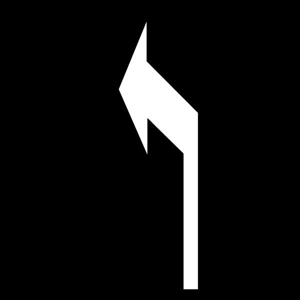 Alfombra marca vial con flecha direccional izquierda